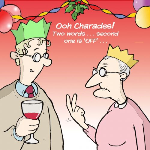 TW298 – Charades Rude Christmas Card